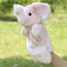 Hot sale hand puppet toy elephant child puppet cartoon animal plush toys for baby kids(China)