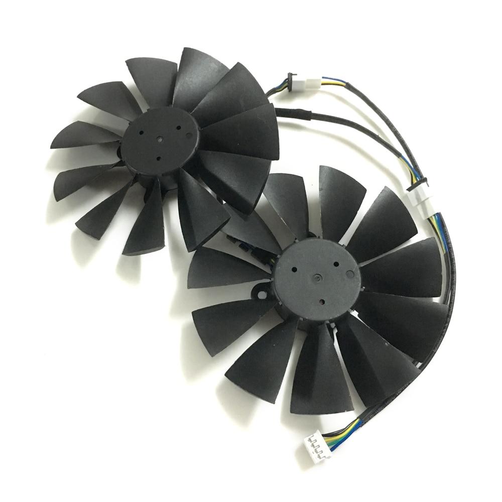 2pcs GPU RX470 GTX1080TI VGA cooler fans ROG-POSEIDON-GTX1080TI graphics card fan for ASUS ROG STRIX RX 470 Video cards cooling<br>