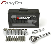 Easydo 16 In 1 Multi Function Bicycle Repair Tools Hey Key Disc Screwdriver Spanner Torque Wrench Cycling Bike Tools Kit Set(China)
