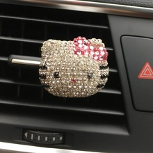Lady Car Perfume Diamond Lovely Hello Kitty Outlet Perfume Kt Cat Air Outlet  Perfumes 100 Original  Car Styling  Ornaments