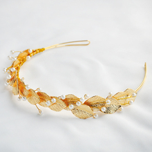 2017 BendableRoyal Regal Hot Gold Golden Leaf Tiaras Headband Quinceanera Hair Accessories For Wedding Brides Bridesmaid Girl