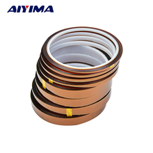 AIYIMA 30m polyimide adhesive tape silicone tape High temperature adhesive polyimide film 3-20mm(China)