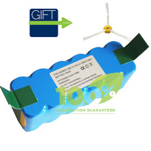 Free Shipping 4500mAh Li-ion Battery for iRobot Roomba 500 600 770 780 790 870 880 With FREE Side Brush