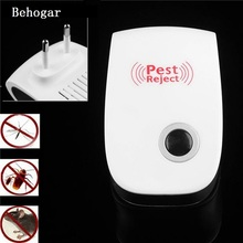 Behogar Multi-Purpose Ultrasonic Pest Repeller Mosquito Killer Electronic Reject Mouse Repellent Rodent Bug Reject US EU Plug(China)