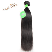 Angel Grace Hair Peruvian Straight Hair 100g/piece Natural Color Human Hair Bundles 10-28 inch Available Remy Hair Free Shipping(China)