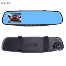 2017 new ultrathin car camera HD 720P Car Dvr Camera Auto 2.8 Inch Rearview Mirror Digital Video Recorder Camcorder(China)
