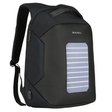 BAIBU Fashion Men Backpacks Solar Charging Anti-theft Backpack 15.6inch Laptop Computer Bag For Teenager Men Women Casual Travel(China)