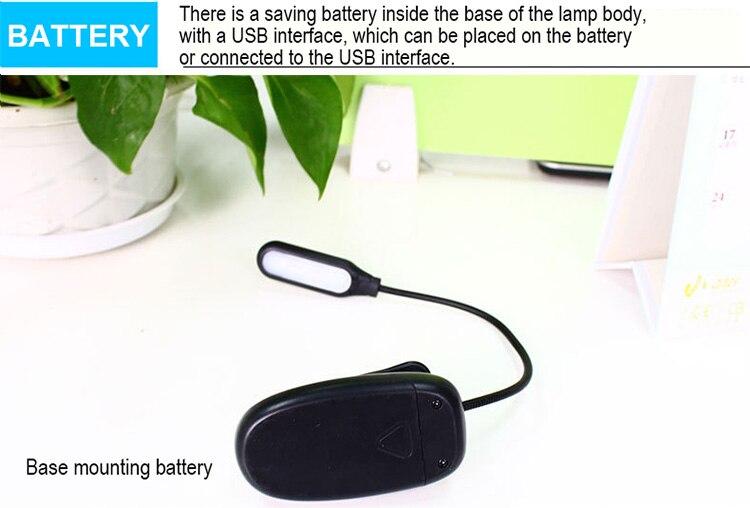 DE.SOUL Third Gear Adjustment Light Source LED Book Light Clip 360 Degree Flexible Charging Book Lamp Travel Beside Reading Lamp (9)