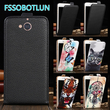 Factory Direct! TOP Quality Printed Cartoon Up and Down Flip PU Leather Cell Phone Case Cover For BLU Vivo 6