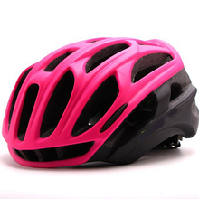 womens Sports helmet bike helmet PINK ladies Summer MTB Road Cycling Helmet Glasses Cover Goggles Ciclismo Casco 54-58CM(Hong Kong)