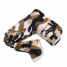 Brand New Naval Camouflage Golf Putter Cover Magnet Closure with Mini Putter Cover for Blade Golf Putter Free Shiping Head Cover(China)