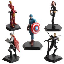 High Quality Marvel Avengers 2 Figures 7 Patterns  Black Widow Vision Ultron Iron Man Captain America Action Figures Model Toys