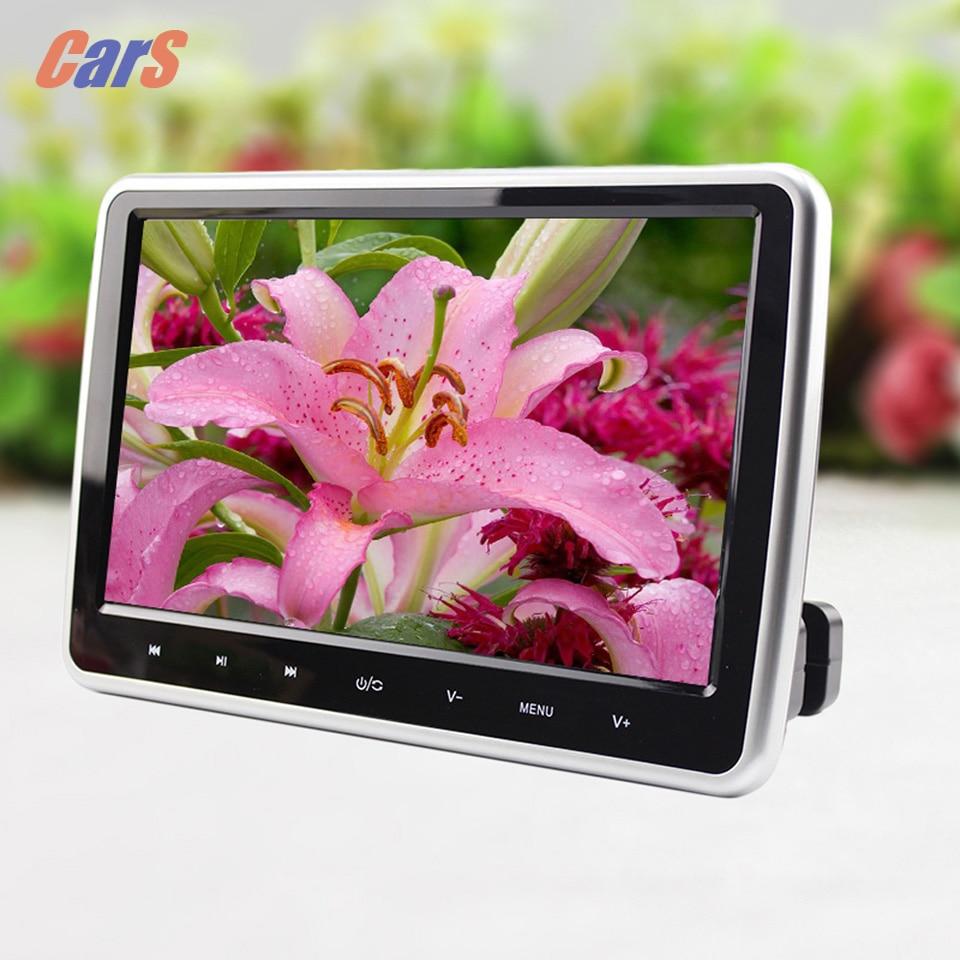 Hot 10 DC12V 12W HDMI HD Digital Car LCD Tablet DVD Speaker Car Headrest  Monitor 16:9 DVD/USB/SD Player IR/FM Game disc<br><br>Aliexpress