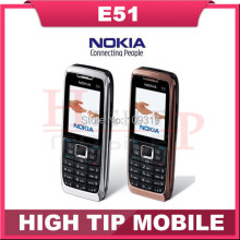 Original Nokia E51 Mobile Phones Bluetooth JAVA WIFI Unlock Cell Phone Refurbished Free Shipping In Stock