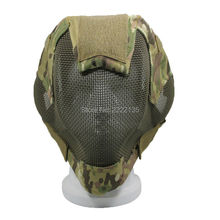 Military Tactical Mask Full Face Metal Steel Wire Mesh Combat Mask airsoft paintball wargame Military protector