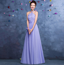 formal vestidos de festa long festa dress lilac halter evening party gowns dresses women 2017 new arrival free shipping S3318