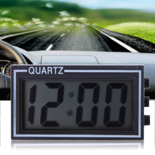 LCD Lighted Digital Car Clock Auto Car Truck Dashboard Date Time Calendar Black High Quality Vehicle Electronic Digital Clock