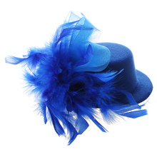 mini organza spring hat hair clip Blue