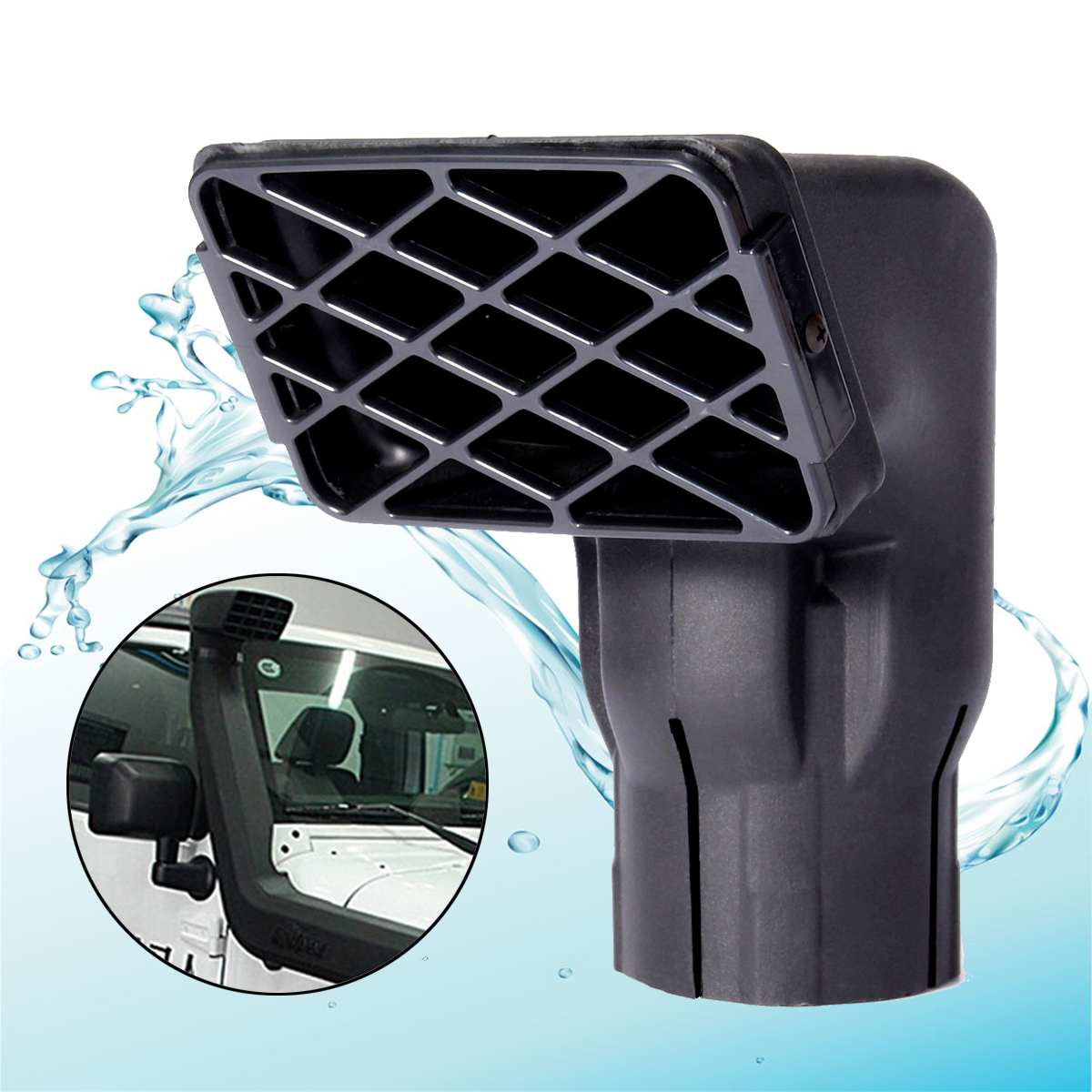 """Raised Mushroom Snorkel Head 3/""""77mm Fit For Jeep-Landrover-Toyota-Ford NEW"""