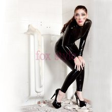Buy 0.6 Heavy nature rubber Black latex leotard catsuit tights adult girls