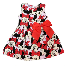 New Children's Clothing Minnie Mouse Children Cartoon Dot Dress Tutu Princess Dress Kids Loose-Fitting Baby Girl Dress