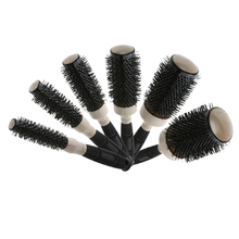 Professional Hairdressing Hairbrush Salon Natural Curly Hair Comb Brush Air Heat Lead Ceramic Hair Styling Comb Brushes Tools(China)