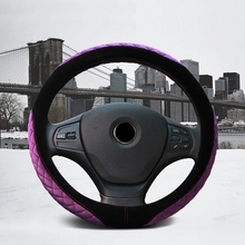 Car Steering Wheel Cover for Winter Warm Crystal Velvet 38cm Car Handle case set For BMW VW Golf 4 Ford Fucus 2 3 Nissan Honda