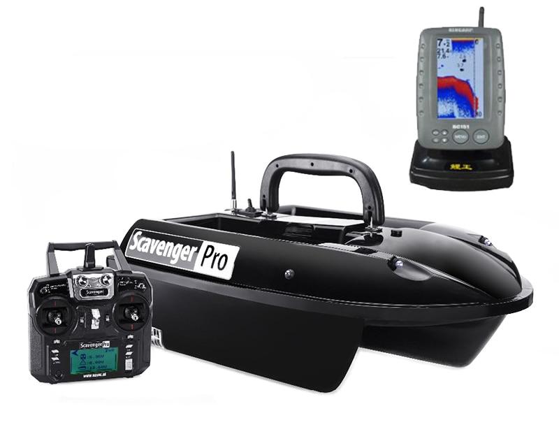 BearCreeks GPS Autopilot Scavenger bait boat futterboote With Colour FishFinder