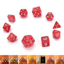 10pcs Digital Dice Set with Bag d4,d6,d8,3xd10,d12,,d20,d24,d30 RPG Playing Games Big dice TOY
