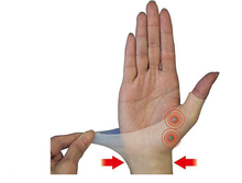 Hot-1pair Japanes idea Hand magnetic therapy wrist massager big finger toe massager pain relief(China)