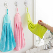 1Pcs Soft Microfiber Fiber Absorbent Easy Dry Hand Towel Cleaning Washable Kids Lovely Towel For Kitchen Bathroom Use