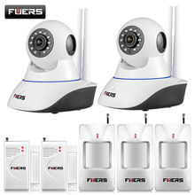 720P HD WiFi IP Camera HD 1MP CCTV IP CMOS security camera Alarm system For wifi and GSM sms alarm system Android APP control(China)