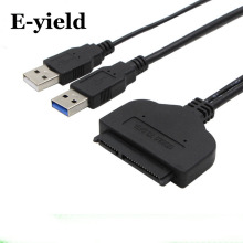 USB 2.0 USB 3.0 to SATA  High Speed  Adapter Cable 22 pin For 2.5 inch HDD/SSD  Hard Disk Laptop With Extra Power