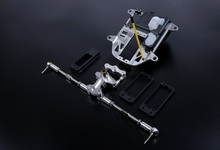 Steering system with plastic battery case kit Upgrade for 1/5 HPI BAJA 5B 5T 5SC rc car parts(China)