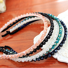 New Design Colorful Crystal Simple Style Headband Hairbands for Girls Headwear Hair Accessories