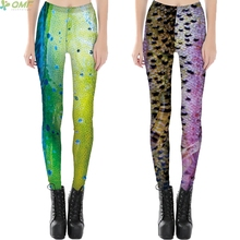 Cosplay Fluorescenc Fish Scale Women Novelty Scale Pants Colorful Gradient Monster Skin Fitness Female Leggings Punk Gothic Rock
