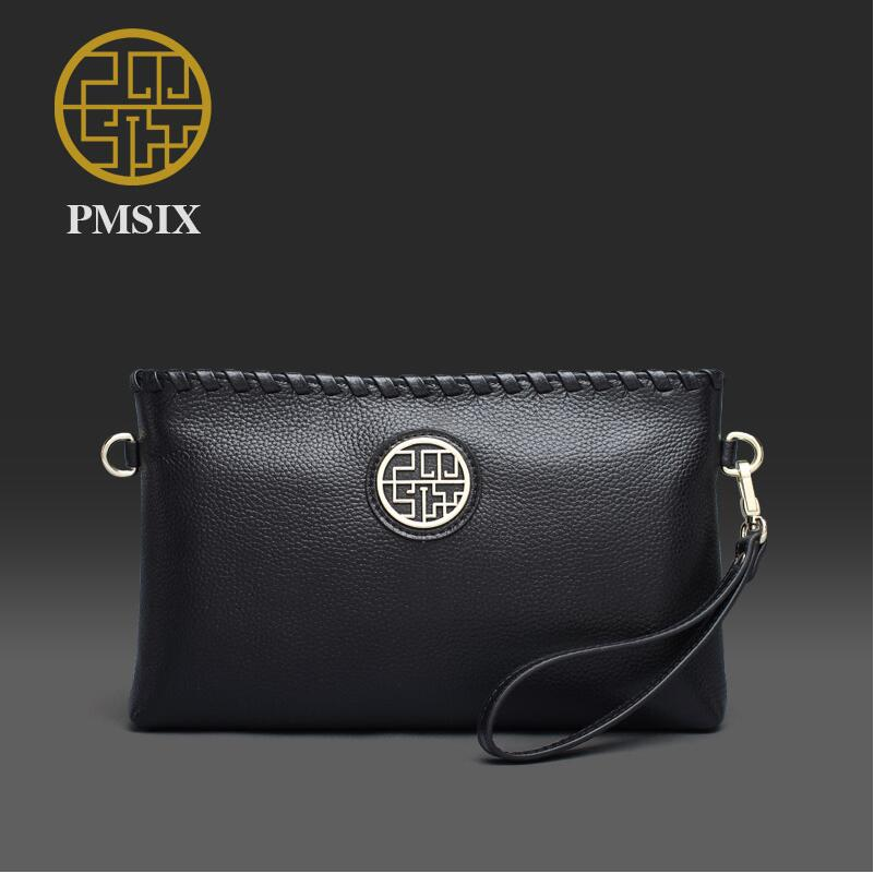 PMSIX new superior cowhide leather Designer handbag Leather Satchel Trend woven chain women clutch bag Genuine Leather bag<br><br>Aliexpress
