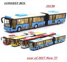 36 Cm Extended Long bus, Die Cast double Bus Lights & sound Play, Right door open. free shipping(China)