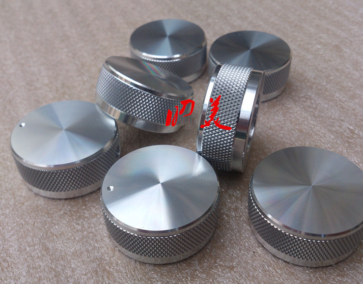 uxcell Potentiometer Knobs Solid Aluminum Volume Control Knob Amplifier Electric Guitar Silver Tone D-Shaft