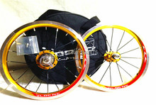 LDCNC wheel set BYA412 upgrade wheels set folding bike 14 inch lightest wheels lighter than mialo wheels(China)