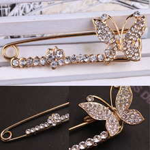 New Arrival Jewelry Rhinestone Decoration Butterfly Brooch Fashion Pin Corsage BRH-001917