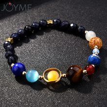 Women Universe Galaxy The Eight Planets In The Solar System Guardian Star Bracelets Natural Stones Beaded Charm Drop Shipping