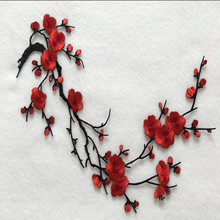 Buy 1Pcs Large Plum Blossom Flower Embroidered Patches Applique Iron Stick Clothes Accessories Clothing Patches for $3.36 in AliExpress store