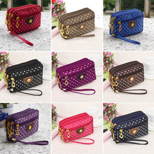 2017 New Ladies Purse Coin Multilayer Canvas Bag Small Messenger Crossbody Bags For Women FA$B
