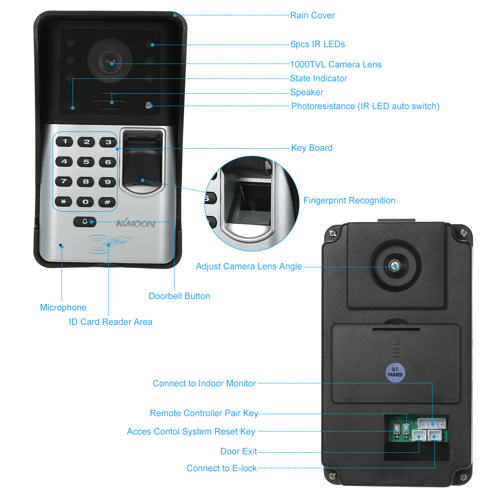 Xinsilu Home Security Nicht-visuelle Gebäude Intercom System Für 8-wohnungen Passwort Entsperren Hand-free Audio Tür Telefon