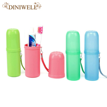 DINIWELL Protable Outdoor Travel Toothbrush Storage Box Holder Tooth Mug Toothpaste Towel Cup Organizer Bath For Camping Holiday