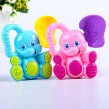 Cute Elephant Baby Rattle Plastic Hand Jingle Shaking Bell Toddler Kids Educational Musical Toys for Children
