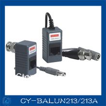 CCTV BNC Video Power Balun UTP twisted pair Power Transceiver,UTP Video Balun with RJ45 UTP Port and Surge Protection(China)