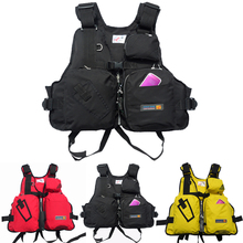 New 2017 fishing life jackets multi-pocket vest removable rock fishing outdoor leisure folding easy to carry JRLM35(China)