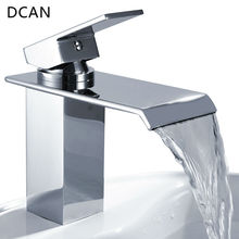 Bar Sink Faucets Basin Faucets Waterfall Faucet Single Handle Basin Hot and Cold Mixer Tap Bathroom Faucet Sink Chrome Finish(China)